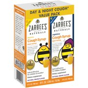 Zarbee's Naturals Children's Cough Syrup with Dark Honey Daytime & Nighttime, Natural Grape Flavor, 8 Fl. Ounces Total (Value Pack of 2)