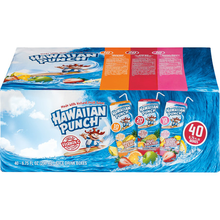 Red Fruit Punch - Hawaiian Punch Variety Case, 6.75 Fl Oz, 40 Count