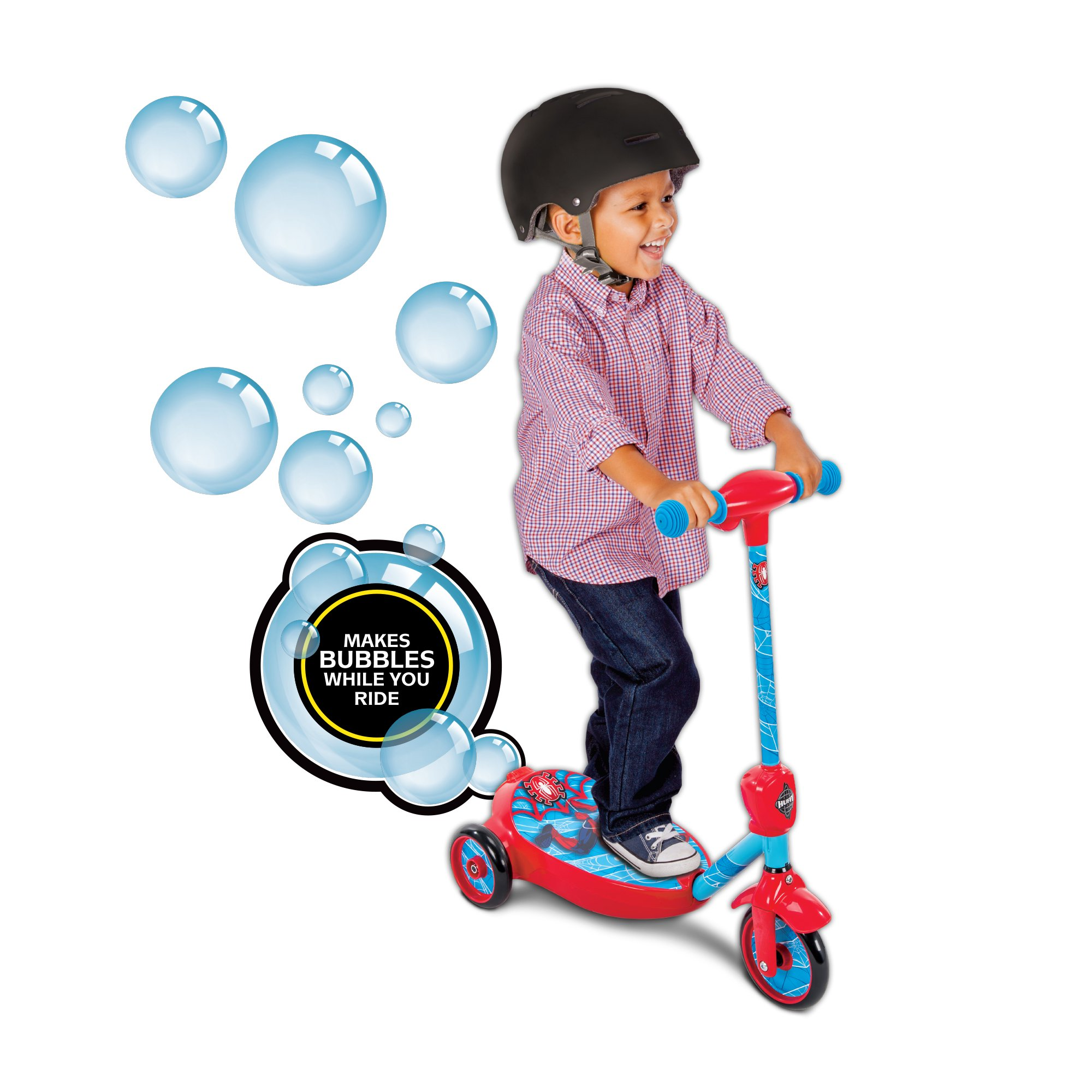 Marvel Spider-Man Boys' 6V Battery-Powered Bubble Scooter by Huffy