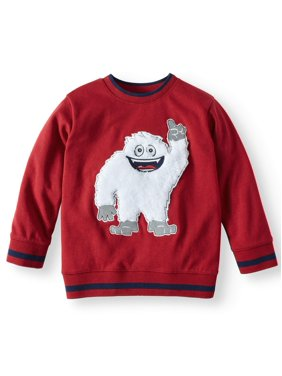 365 Kids From Garanimals French Terry Sweatshirt with 3D Graphic and Elbow Patches (Little Boys & Big Boys)