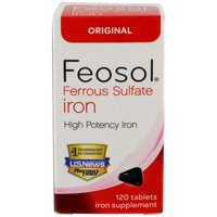 (2 pack) Feosol Ferrous Sulfate Iron Tablets, 120 Ct