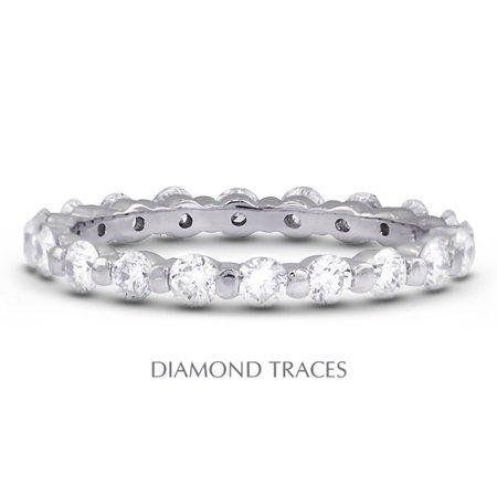 4.51ctw G-SI3 Ideal Cut Round Cert. Diamonds 14k Gold Classic Wedding Band -
