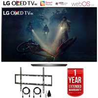 """LG OLED55B7A B7A Series 55"""" OLED 4K HDR Smart TV (2017 Model) with Deco Mount Flat Wall Mount Kit Ultimate Bundle for 45-90 inch TVs and 1 Year Extended Warranty"""