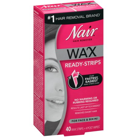 Nair™ Wax Ready-Strips Hair Remover for Face & Bikini 40 ct Box