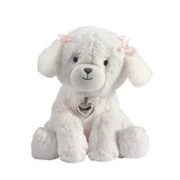 Lambs & Ivy Baby Love White Plush Puppy Stuffed Animal Dog - Annie  -  Pink,