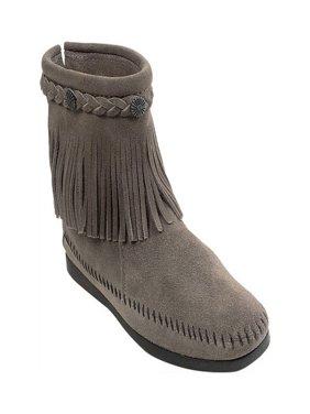 women's minnetonka hi top back zip boot