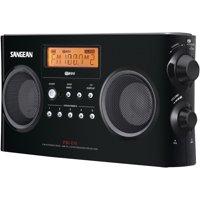 Sangean PR-D5-BK Digital Portable Stereo Receiver with AM/FM Radio (Black)
