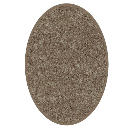 Bright House Solid Color Area Rugs Brown - 8'x10' Oval