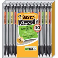 BIC Xtra Life Mechanical Pencil, Medium Point (0.7 mm), 40-Pack