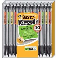 BIC Xtra Life Mechanical Pencil, Medium Point (0.7 mm), 40-Pack