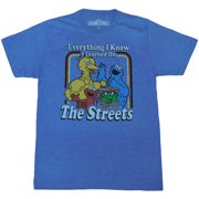 c645cc5d Sesame Street Everything I Know Adult T-Shirt