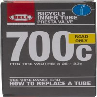Bell Sports Standard Presta Bicycle Inner Tube, 700c x 25-32c