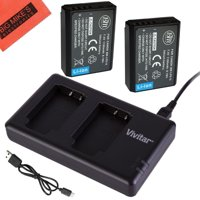 BM Premium 2-Pack of LP-E10 Batteries and USB Dual Battery Charger Kit for Canon EOS Rebel T3, T5, T6, Kiss X50, Kiss X70, EOS 1100D, EOS 1200D, EOS 1300D Digital Camera