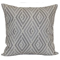 """Mainstays Diamond Decorative Throw Pillow, 18"""" x 18"""", Taupe"""