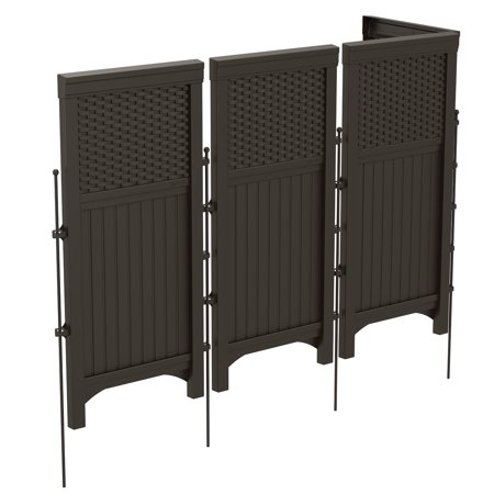 Suncast Resin Wicker Outdoor Screen Enclosure, (Suncast Classic 44 In Resin Screen Enclosure)