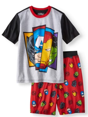 Boys' Avengers 2 Piece Pajama Sleep Set (Little Boy & Big Boy)
