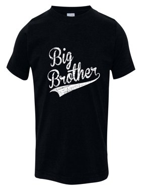Texas Tees Brand: Gift for Big Brother, Big Brother in Baseball Script, Includes size 12-18 Month