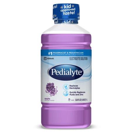 Pedialyte Electrolyte Solution, Hydration Drink, Grape, 1 Liter, 8 - Electrolyte Enhanced Hydration Supplement Lemon