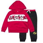 01a7c74a2 The Incredibles Toddler Boys Incredibles Jogger Set - Disney Pixar Hoodie &  Sweatpants Set (Red