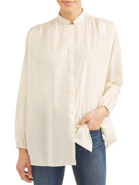 Women's Murphy Collarless Button-Front Blouse
