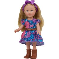 """My Life As 7"""" Mini Poseable Cowgirl Girl Doll, Blonde Hair"""
