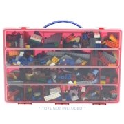 Building Bricks Case, Toy Storage Carrying Box. Figures Playset Organizer. Accessories For Kids by LMB