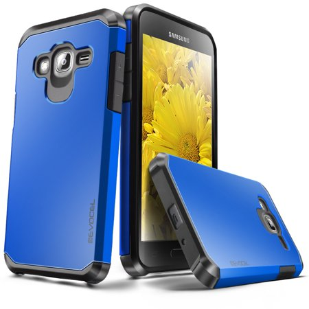 Galaxy J3 / Galaxy Amp Prime Case, Evocel [Lightweight] [Slim Profile] [Dual Layer] [Smooth Finish] [Raised Lip] Armure Series Phone Case for Samsung Galaxy J3 / Galaxy Amp Prime, Brilliant Blue (Samsung Notebook Series 5 Case)