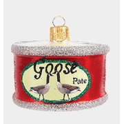 Goose Pate in a Can Polish Mouth Blown Glass Christmas Ornament Food Decoration
