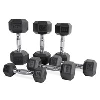 CAP Barbell Rubber Coated Hex Dumbbell, Single