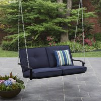 Mainstays Belden Park Outdoor Porch Swing with Cushion, Seats 2