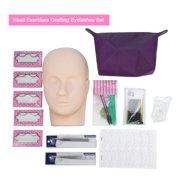 Professional One Training Head Model False Eyelashes Extension Practice Kit Tool For Starter, Eyelash Practice