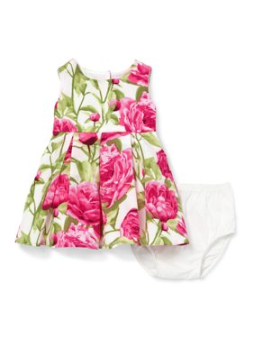 Pink Floral Dress (Baby Girls)