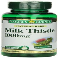 2 Pack - Nature's Bounty Milk Thistle 1000mg Softgels 50 ea