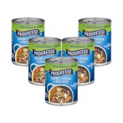 (5 Pack) Progresso Soup Reduced Sodium Chicken and Wild Rice Soup 18.5 oz Can