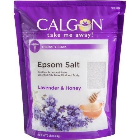 (2 pack) Calgon Epsom Salt, Lavender & Honey, 3 Lb