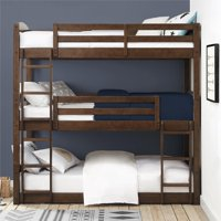 Better Homes and Gardens Tristan Triple Floor Bunk Bed, Multiple Finishes