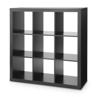 Better Homes & Gardens 9 Cube Storage Organizer, Solid Black
