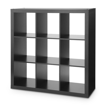 better homes gardens 9 cube storage organizer solid black. Black Bedroom Furniture Sets. Home Design Ideas