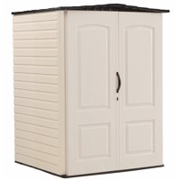 Rubbermaid 5 x 4 ft Resin Storage Shed, Sandstone & Onyx