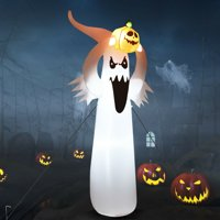 Deals on Gymax 6FT Halloween Inflatable Blow Up Ghost w/Pumpkin LED Lights
