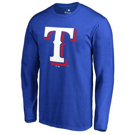 Texas Rangers Team Color Primary Logo Long Sleeve T-Shirt - Royal