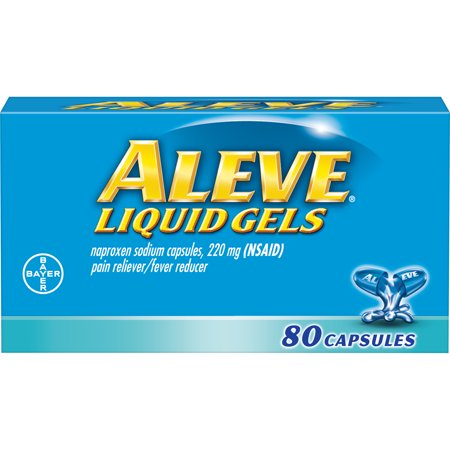Foods Liquid Multi Gels (Aleve Liquid Gels w Naproxen Sodium, Pain Reliever/Fever Reducer, 220 mg, 80 Ct)