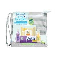Johnson's Tiny Traveler Baby Gift Set, Bath & Skin Essentials, 5 items