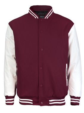Men's Premium Classic Snap Button Vintage Baseball Letterman Varsity Jacket