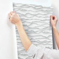 RoomMates Singed Grey Peel & Stick Wallpaper