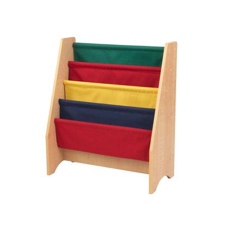 - KidKraft Sling bookshelf - Primary & Natural