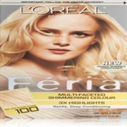L'Oreal Paris Feria Multi-Faceted Shimmering Color, Very Light Natural Blonde [100] 1 ea (Pack of 3)