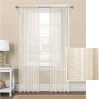 Mainstays Seersucker Textured Sheer Window Curtain Panel