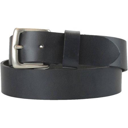 1-1/2 in. US Steer Hide Harness Leather Men's Belt w/ Antq. Nickel (Patent Leather Covered Buckle Belt)