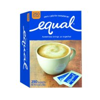 (250 Packets) Equal Zero Calorie Sweetener Packets, Sugar Substitute